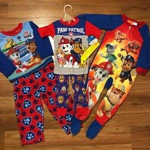 Nickelodeon Pajamas - Bundle of 3 Size 3T Paw Patrol Pajamas